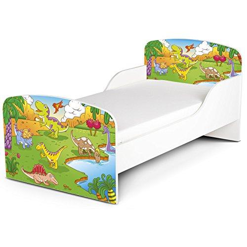 PriceRightHome dinosaure Design MDF Toddler ne Bed aucun stockage + matelas mousse