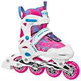 Roller Derby I145-S Girls ION 7.2 Adjustable Inline Skate, Small (11-1)