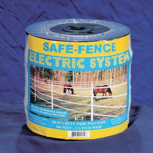 "Powerfields K-3 1-1/2"" Safe-Fence Polytape White 200' Roll"