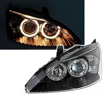 mit Standlichtringen Klarglas Chrom KG Angel Eyes Scheinwerfer Set AD Tuning GmbH /& Co