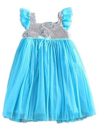 Toddler Girl Kids Princess Elsa Party Costume Fancy Tulle Fancy Dress