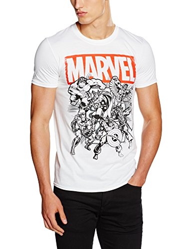 Marvel Collective, T-Shirt Uomo, Bianco, Large