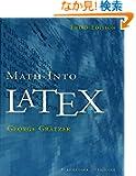 Math into LaTeX
