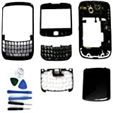 Black Full Housing Keypad Lens Cover Case For BlackBerry Curve 8520+Tools