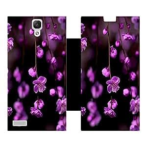 Skintice Designer Flip Cover with Vinyl wrap-around for Xiaomi Note 4, Design - Flower