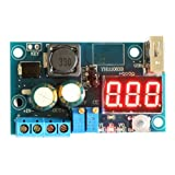 DROK LM2596 DC/DC Buck Converter Constant Current/Voltage 4-40V to 5V/12V 3A Power Supply For IPad/IPhone+On Board USB+LED Volt/Amp Display