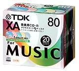 TDK 音楽用CD-R 日本製 5色カラーミックスワイドプリンタブル 5mmPケース入り 20枚パック CD-RXA80CPWX20S