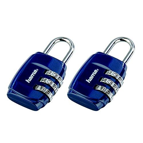Hama Zahlen-Gepäckschloss 2er-Set, blau,