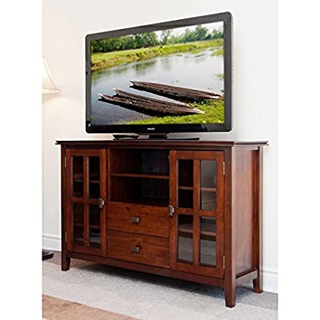 Tv Media Center Television Entertainment Stand, Audio Video Cabinet with Shelves and Storage Drawers