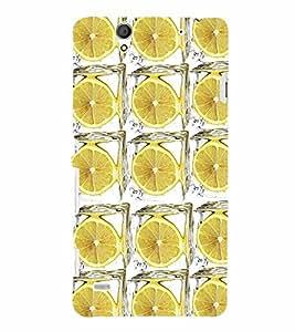 PrintVisa Corporate Print & Pattern Lemon 3D Hard Polycarbonate Designer Back Case Cover for Sony Xperia C4 Dual