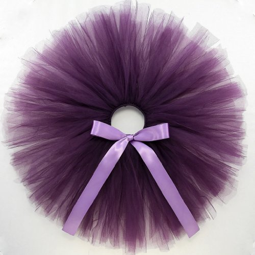 Sugar Plum - Tutu Skirt w RibbonBow for Baby, Girl, Toddler & Woman - Purple