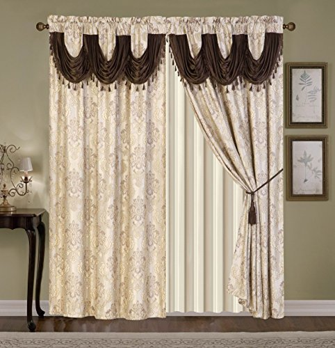 Wpm 39 S Fabulous Luxury Embroidered Curtain Set 4 Piece