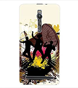 ColourCraft Music Back Case Cover for ASUS ZENFONE 2 ZE551ML
