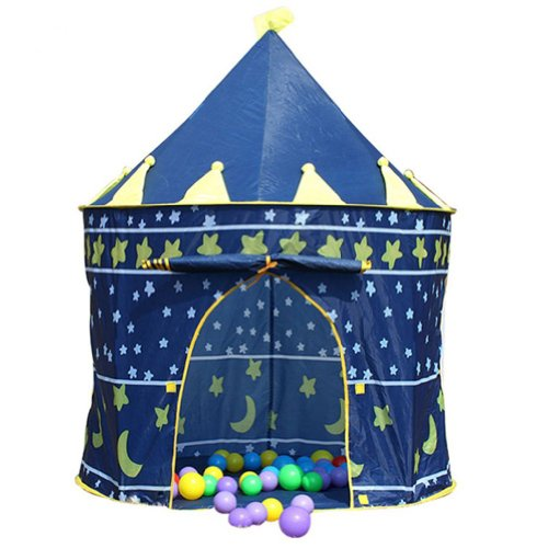 Battop Blue Prince Tent Play House Castle Tent For Kids Indoor And Outdoor
