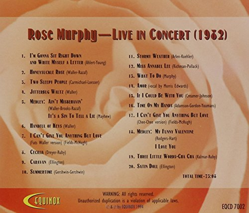 Live in Concert 1962