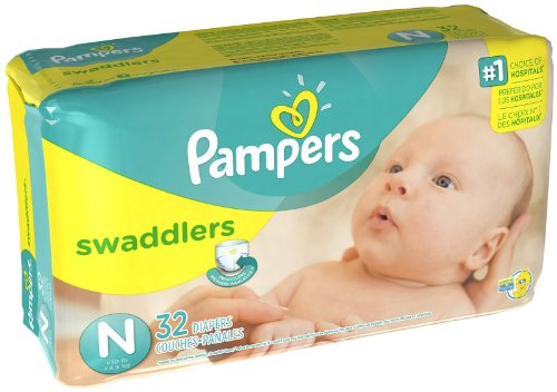 Pampers Swaddlers Diapers Jumbo Pack - 32 Ct., Size Newborn