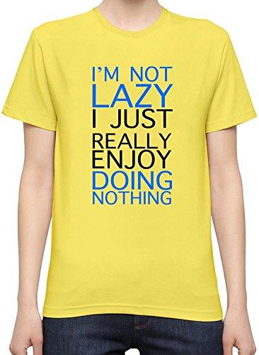 I'm Not Lazy I Just Really Enjoy Doing Nothing Slogan T-Shirt per Donne XX-Large