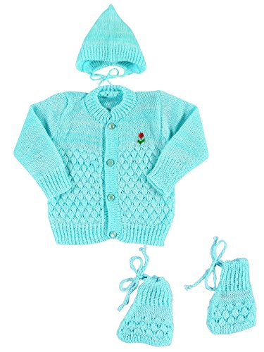 14b751887 New Born Baby Woolen Knitted Baby Set (3Pcs Suit) Price in India ...
