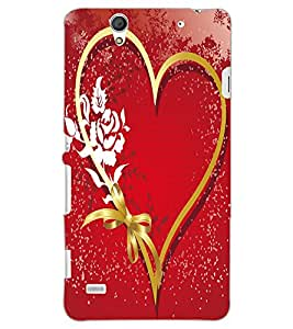 SONY XPERIA C4 HEART Back Cover by PRINTSWAG