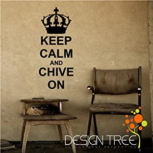 KEEP CALM AND CHIVE ON Vinyl wall art Inspirational quotes and saying home decor decal sticker from Design Tree
