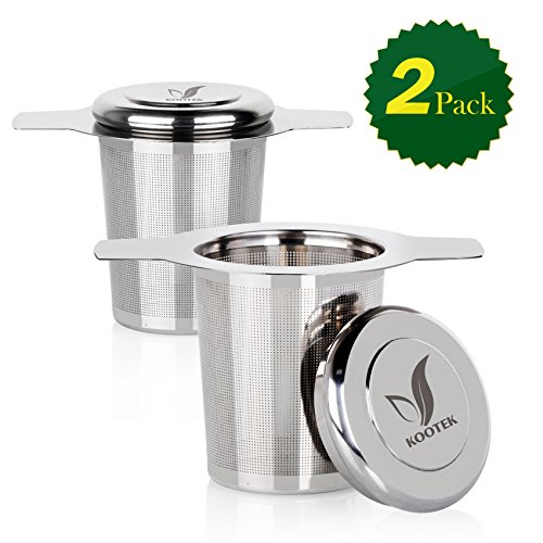 Lowest Price! 2 Pack Tea Infuser Kootek® Tea Strainer Premium Stainless Steel Basket Filters Herbal...