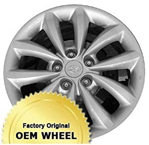 HYUNDAI AZERA 17X7 10 SPOKE Factory Oem Wheel Rim- SILVER – Remanufactured