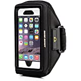 Gear Beast Case Compatible Sports Armband For Otterbox Commuter / Defender Cases For Apple iPhone 6 Plus (5.5 Inch), Samsung Galaxy Note 4 / 3 / 2 & Galaxy S5 Active & More (Black)