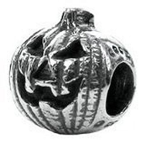 CleverEve Designer Series Zable Halloween Themed Sterling Silver Jack-O-Lantern Charm Bead