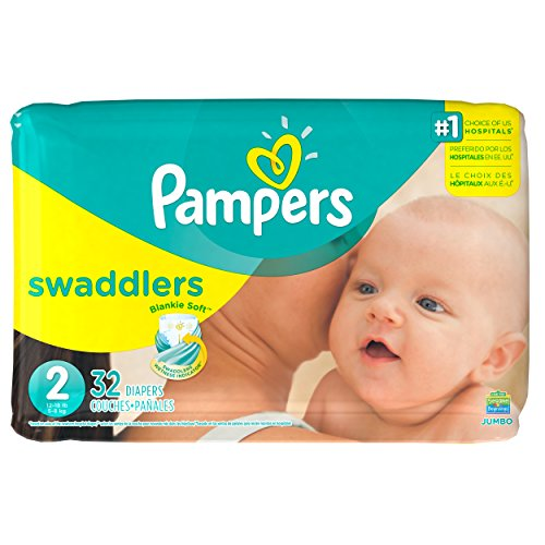 Pampers Swaddlers Diapers Size 2 Jumbo bag 32 count diapers - 1