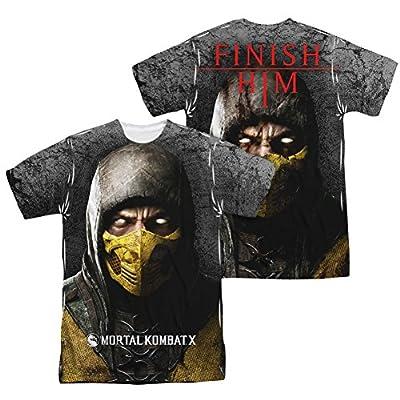 Mortal Kombat X Finish Him All Over Print Front / Back T-Shirt