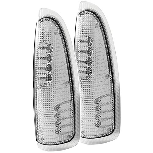 Anzousa 861100 Clear/Amber Led Mirror Turn Signal Light For Ford F-250/F-350 - Pair