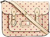 Lydc Sara Vintage Polka SS01027, Damen Messengerbag, Beige (Cream Pink), L