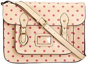 Lydc Women's Sara Vintage Satchel Cream Pink SS01027 Large