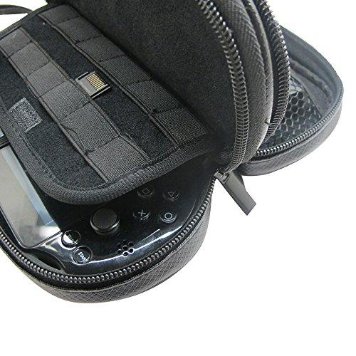 Khanka-All-in-one-Double-Compartment-Carry-Travel-Case-Bag-Gray-GameMemory-Card-hard-Case-For-Psvita-PS-Vita-1000-and-PSVita-Slim-PSV-2000-fits-Charger-cableGame-Cards