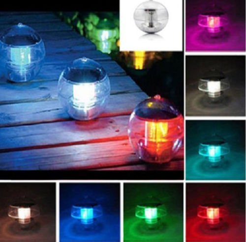 Qich® Solar Power Waterproof Color Changing Led 7 Colors Floating Pool Light Garden Floating Swimming Globe Pool Party Ball Light Decor