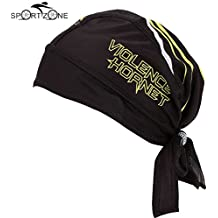 Alcoa Prime Men Black Headband Outdoor Sports Bicycle Breathable Hat Quick-dry Bike Cycling Headscarf Pirate Scarf...