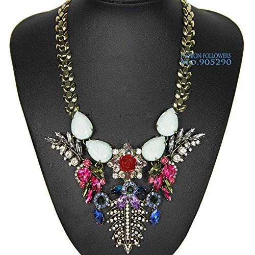 TKCJ New fashion design bib collar necklace chunky luxury pendant choker statement necklace for women