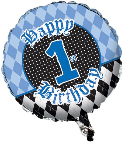 Creative Converting Rebel First Birthday Two Sided Mylar Foil Round Balloon - 1