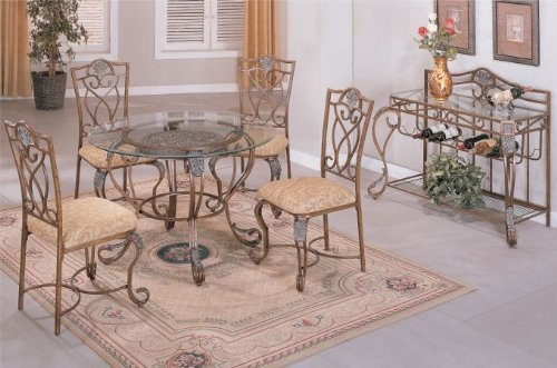 Cheap 8mm Beveled Glass Top Metal Legs Table and High Metal Back Fabric Seat Chairs #PD F21045,f11013 (f2045,f1013)