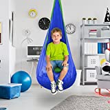 Sorbus® Kids Child Pod Swing Chair Tent - Hanging Seat Hammock Nest for Indoor and Outdoor Use
