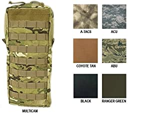 Tactical Assault Gear MOLLE Hydration 100oz Bladder Carrier, Large, A-TACS MH2O1-AS by Tactical Assault Gear