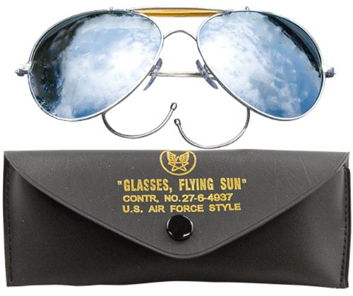Rothco Mirror Air Force Style Sunglasses With Case