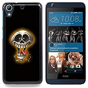 Omega Covers - Snap on Hard Back Case Cover Shell FOR HTC DESIRE 626 - Laughing Skull