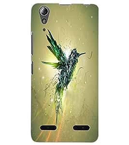 ColourCraft Creative Bird Art Design Back Case Cover for LENOVO A6000 PLUS