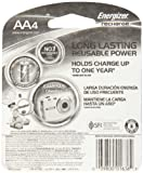 Energizer Power Plus NiMH AA Rechargeable Batteries, 4-count (2300 mAh, Pre-Charged)