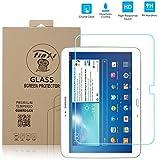 tinxi® Film de protection d'écran en verre trempé pour écran Samsung Galaxy Tab 3 10.1 10.1 pouces protecteur optimal et ultra dur protecteur d'écran en verre trempé Transparent 2.5D