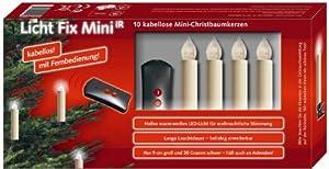 Niko licht fix mini kabellose led christbaumkerzen mit for Kabellose mini christbaumkerzen