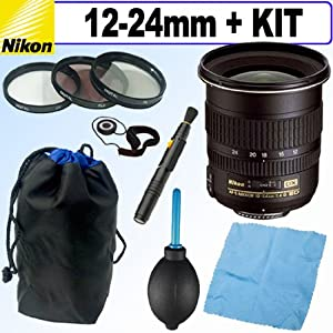 Nikon 12-24mm f/4G ED IF Autofocus DX Nikkor Zoom Lens + Deluxe Accessory Kit