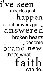 broken hearts become brand new that's what faith can do wall quotes