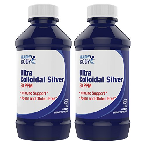 (2 Bottles) Pure Colloidal Silver 30 PPM Vegan and Gluten Free Liquid Silver